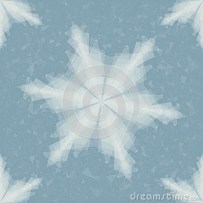 Paper Snowflake. Seamless Pattern. Christmas Illustration