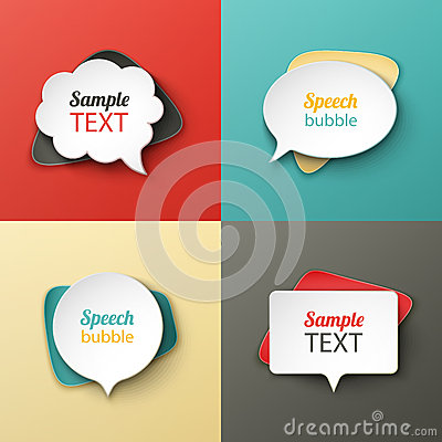 Free Paper Speech Bubbles Different Shapes With The Shadows Royalty Free Stock Photography - 42087287