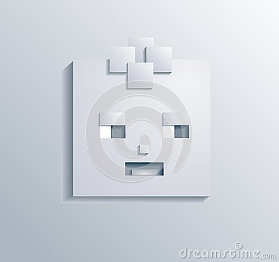 Paper square boy vector