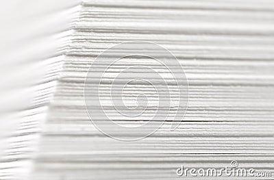 Paper stack closeup
