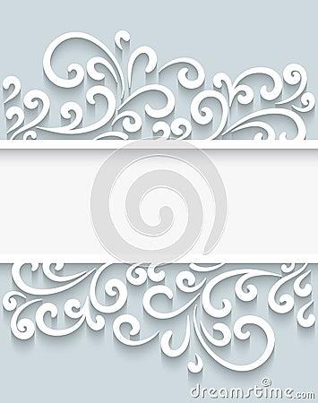Free Paper Swirls Frame Royalty Free Stock Photos - 41805878
