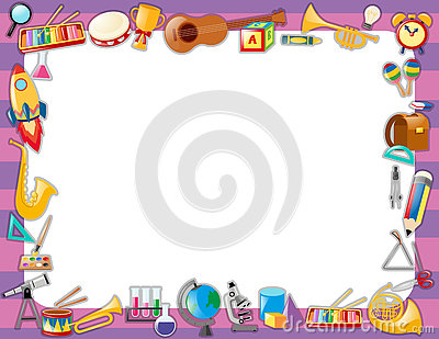 Paper Template With Instruments On Border Vector Image – Border Paper Template