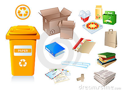 Paper waste and garbage