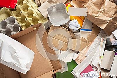 Paper wastes