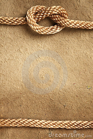 Free Paper With Rope Border Stock Image - 17915131
