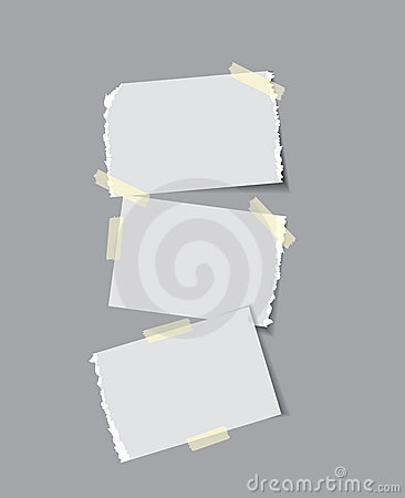 Free Paper With Sticky Tape Royalty Free Stock Photo - 11580335