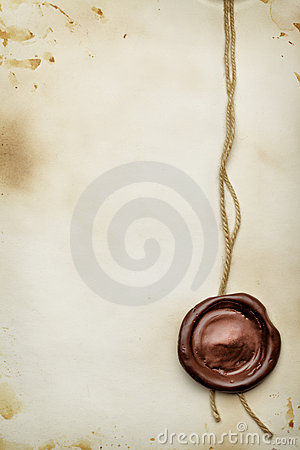 Free Paper With Wax Seal Royalty Free Stock Photography - 13288907