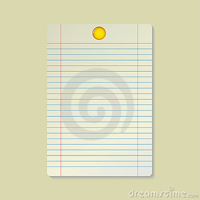 Paper and yellow pin