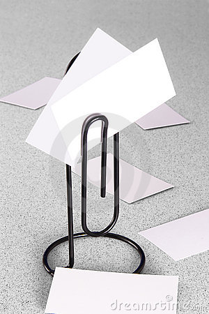 Free Paperclip Message Holder And Cards Royalty Free Stock Images - 3866789