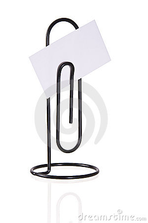 Free Paperclip Message Holder Isolated Royalty Free Stock Photos - 3866798