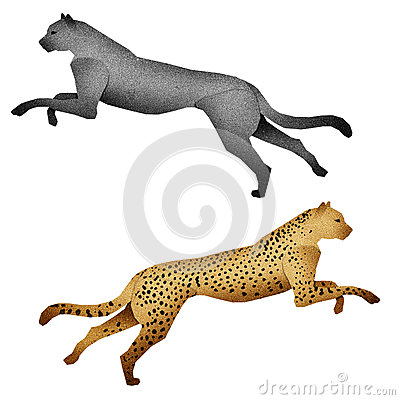 Free Papercut Leopard Made From Recycled Paper Royalty Free Stock Images - 25647959
