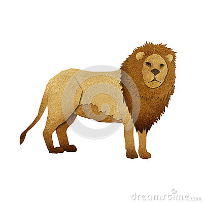 Papercut Lion Recycled Paper