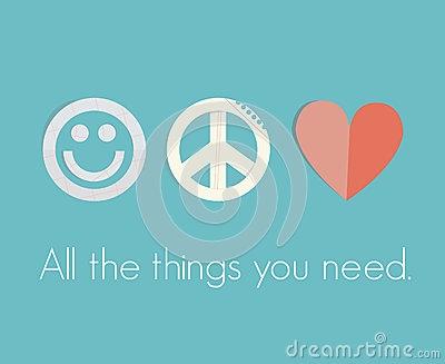 Smile, Peace, Love - all the things you need!