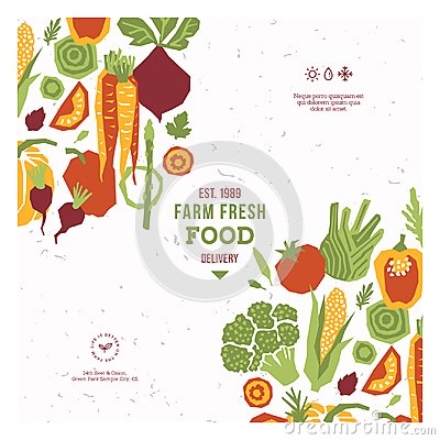 Free Papercut Style Vegetables Design Template. Organic Vegetables. Vector Illustration Royalty Free Stock Image - 115652106