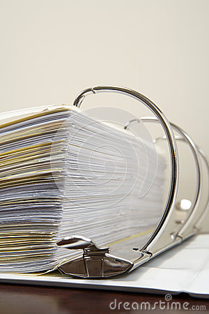 Free Papers In A Ring Binder Royalty Free Stock Photos - 62558328