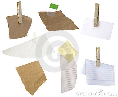 Papers on a white background