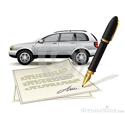 Paperwork for car