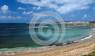 Paphos beach in cyprus island