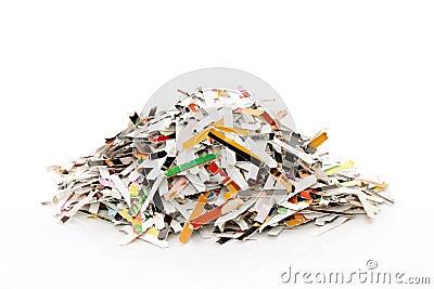 Papier déchiqueté