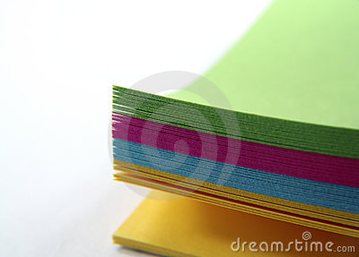 Papier de note coloré