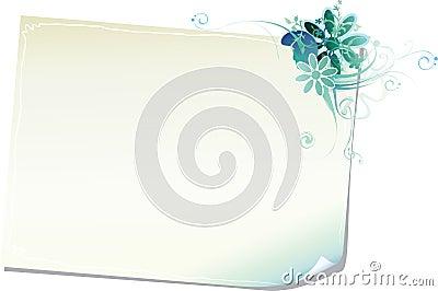 Papier floral de trame