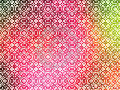 Papier peint de jaune de vert de rose chaud
