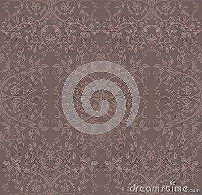 Papier peint floral de cacao sans joint