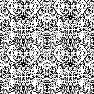 Papier peint noir et blanc de vintage illustration de for Papier peint blanc noir