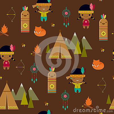 papier peint sans couture de clipart indien illustration. Black Bedroom Furniture Sets. Home Design Ideas