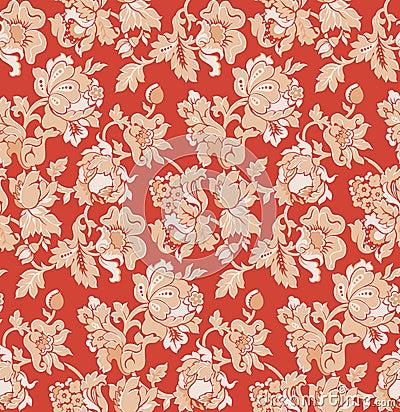 Papier Peint Rouge Baroque Resine De Protection Pour Peinture
