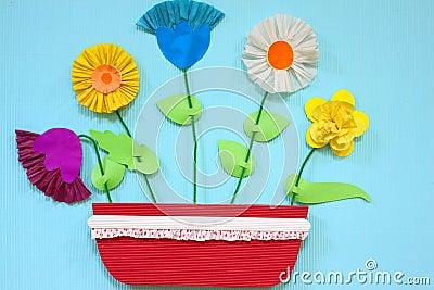 Papierowi kwiaty