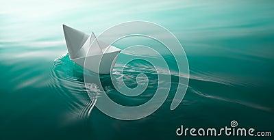 Papierowy łódkowaty żeglowanie