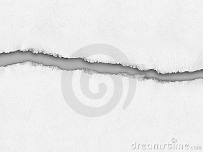 Papper riven sönder white