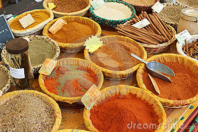 Paprica, curcuma and other aromatic spices