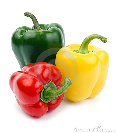 Free Paprika (pepper Bell), Red, Yellow And Green Color Royalty Free Stock Photos - 18011778