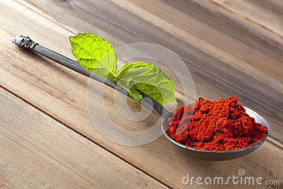 Paprika powder spice