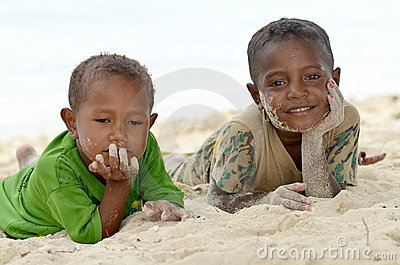 Papua Kids Editorial Image