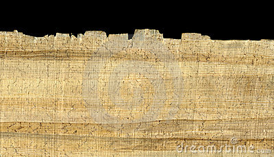 Papyrus paper background and edge