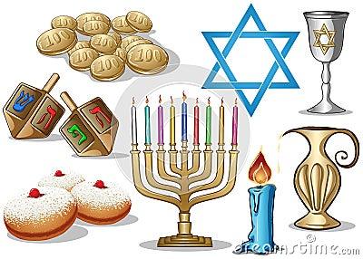 Paquet de symboles de Hanukkah