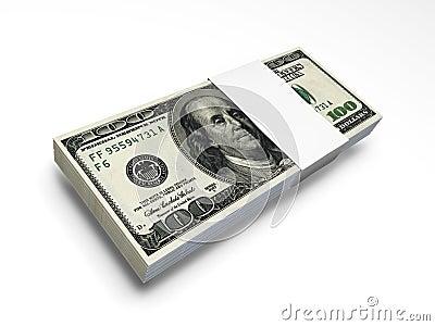 Paquet f1s de billet d un dollar