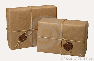 Paquete Con Una Cuerda Y Una Cera Fotos de archivo - Imagen: 19029733