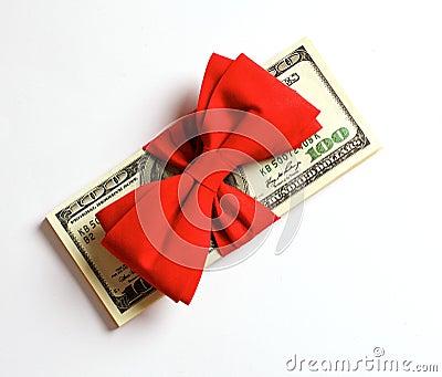Paquete de cientos dólares