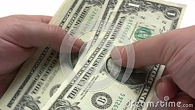 Paquete del dinero almacen de video