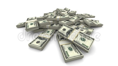 Paquets en baisse des dollars (USD) - réalistes illustration stock
