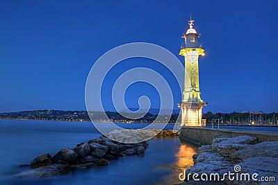 Paquis Lighthouse, Geneva, Switzerland