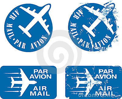Par Avion Rubber stamp 03