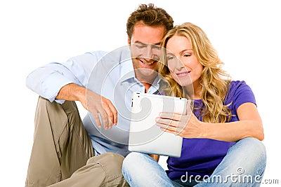 Par genom att använda den digitala tableten
