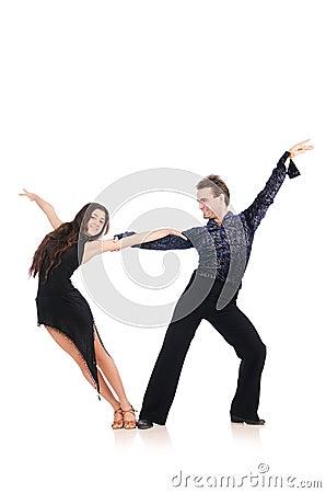Para av isolerade dansare
