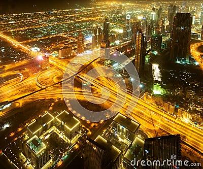 Para baixo cidade de Dubai