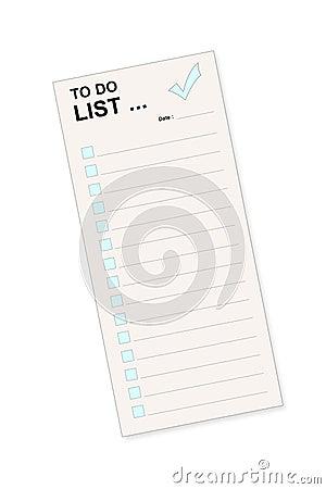 Para fazer a lista